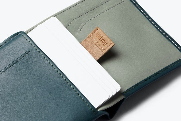 BELLROY LEATHER/ RFID NOTE SLEEVE WALLET- TEAL