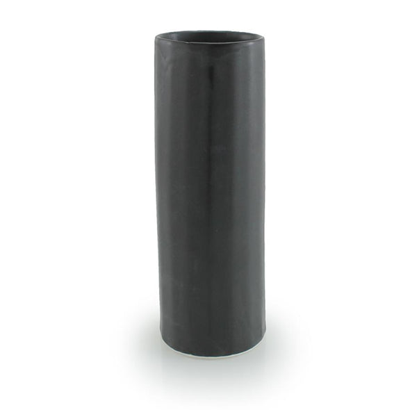 THE BRIGHT ANGLE BLOOM VASE- MICA BLACK SATINE MATTE