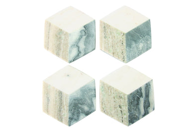 BE HOME COASTERS SET-GEOMETRIC MARBLE HEXAGON