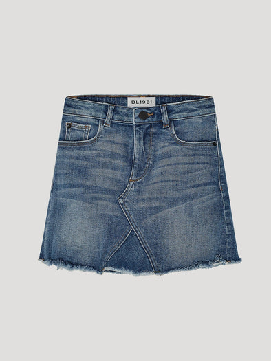 DL1961 PREMIUM DENIM JENNY TODDLER SKIRT- BLUE ROSE