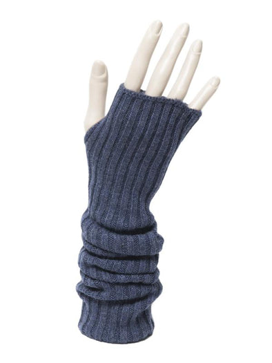 MEG COHEN UNISEX CASHMERE ARM SOX - HEATHER BLUE