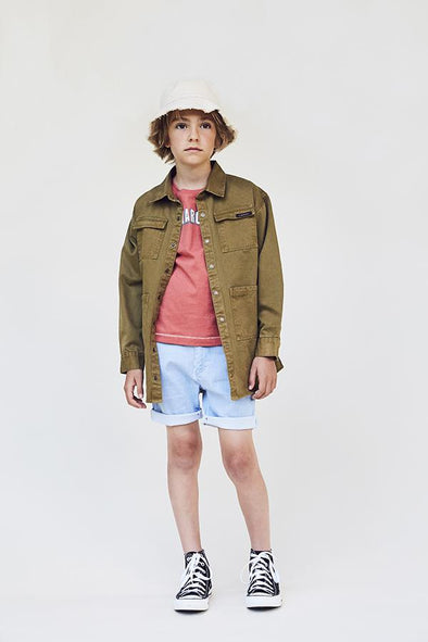 A MONDAY IN COPENHAGEN ANGUS SHIRT JACKET - FIR GREEN