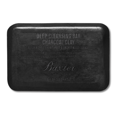 BAXTER OF CALIFORNIA- DEEP CLEANSING BAR CHARCOAL CLAY 3-in-1 BLACK SOAP BAR