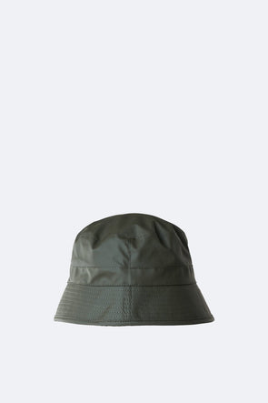 RAINS UNISEX BUCKET HAT - GREEN