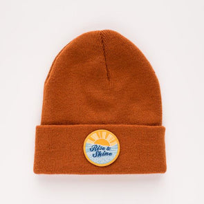 SEASLOPE RISE AND SHINE YOUTH/ADULT BEANIE - CANYON