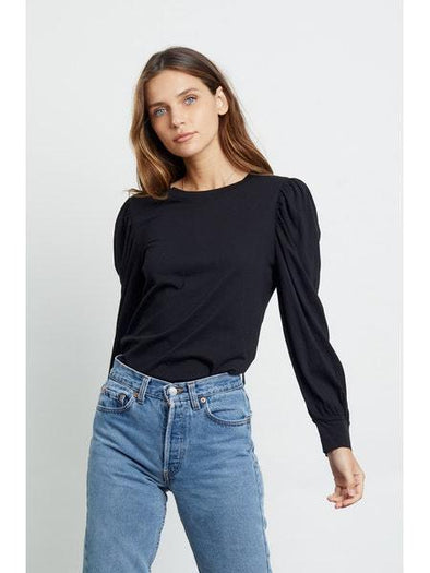 RAILS WOMEN'S EMILIA PUFF SHOULDER SHIRT - BLACK