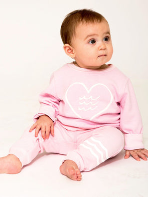 SOL ANGELES BABYS ESSENTIAL HACCI JOGGER- SEA SHELL