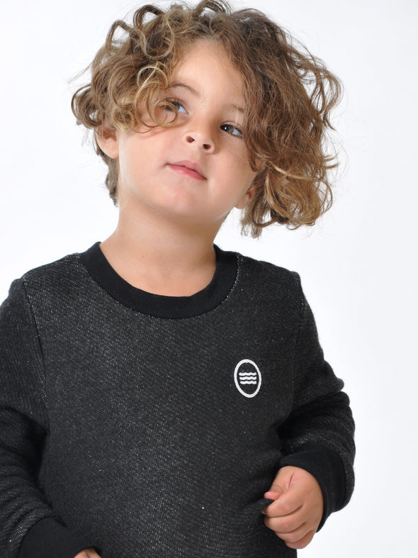 SOL ANGELES KIDS ROMA PULLOVER - BLACK
