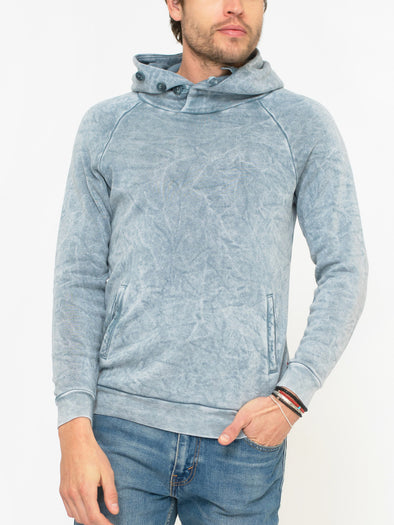 SOL ANGELES MEN'S BAJA COWL PULLOVER - CLOUD