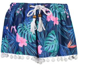 SNAPPERROCK GIRLS RAIN FOREST SWIM SHORTS
