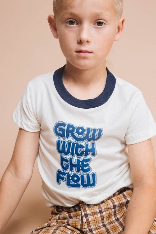THE BEE & THE FOX KIDS SHIRT- GROW WITH THE FLOW