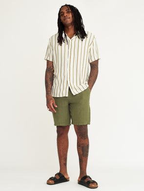 WAX LONDON HOLM LINEN SHORTS - KHAKI