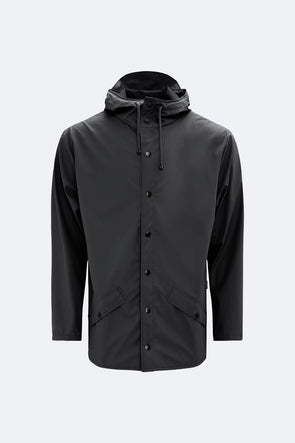 RAINS UNISEX JACKET - BLACK