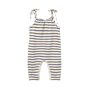 GO GENTLY NATION JERSEY JUMPSUIT-NAVY STRIPE