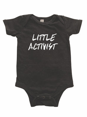 LOVE BUBBY LITTLE ACTIVIST ONESIE