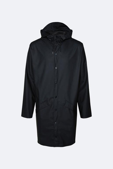 RAINS UNISEX LONG JACKET - BLACK