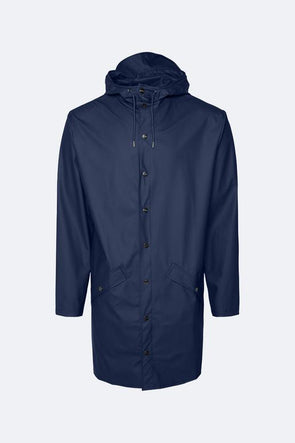 RAINS UNISEX LONG JACKET - BLUE