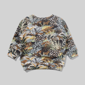 MUNSTERKIDS INFANT BOA CREW SWEATSHIRT - JUNGLE TIGERS