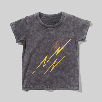 MUNSTERKIDS INFANT BOWIE BOTS TEE - MINERAL BLACK