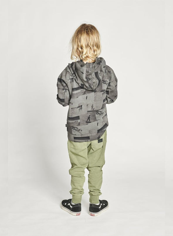 MUNSTERKIDS GREEN HILLS HOODY - WASHED CHARCOAL