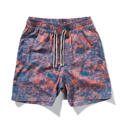 MUNSTERKIDS DEAD FLOWER SHORT-NAVY RED FLORAL