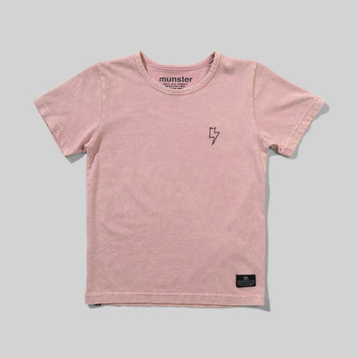 MUNSTERKIDS BLINDSIDE TEE - WASHED DUSTY PINK