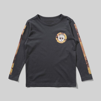 MUNSTERKIDS TATTS L/S TEE - CHARCOAL