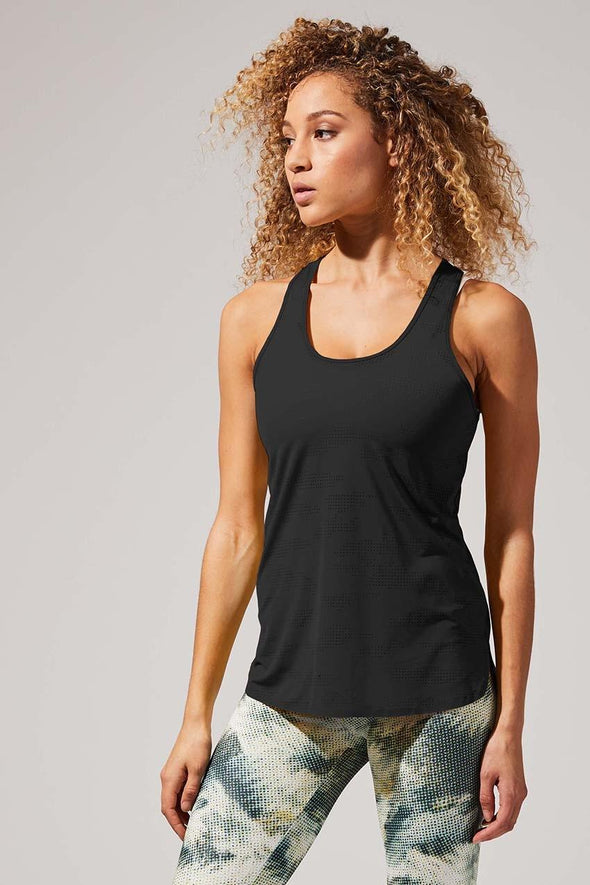 MPG WOMENS EVOLUTION PERFORATED TANK- BLACK