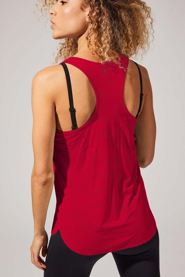 MPG WOMENS EVOLUTION PERFORATED TANK- CURRANT