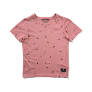 MUNSTERKIDS ASHCON TEE - WASHED DUSTY PINK