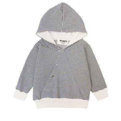 GO GENTLY NATION MOUNTAIN TOP HOODIE- NAVY/NATURAL STRIPE