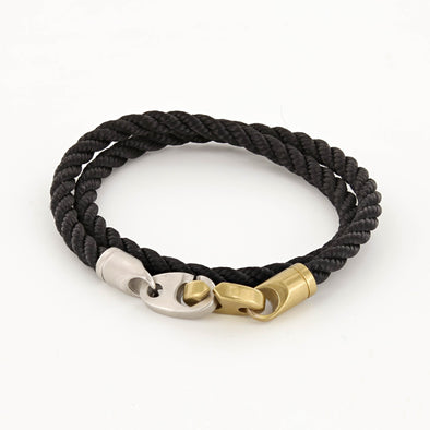 SAILORMADE BRAK DOUBLE ROPE BRACELET- BLACK