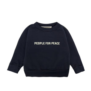 GO GENTLY NATION PEOPLE FOR PEACE CREWNECK- NAVY