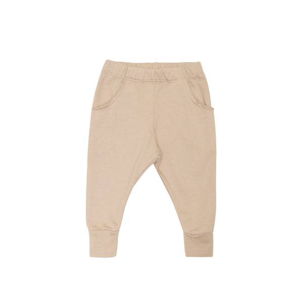 GO GENTLY NATION BOYS RAW POCKET TRACK PANT- ALMOND