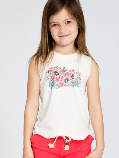 SOL ANGELES KIDS HIBISCUS MUSCLE TANK
