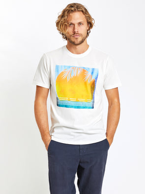 SOL ANGELES MEN'S SUN CREW - WHITE