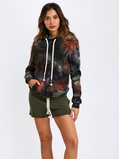 SOL ANGELES WOMEN'S PULLOVER HOODIE - OLIVE MARBLE