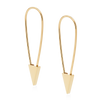 PHYLLIS & ROSIE SAFETY PIN EARRING- 14K GOLD VERMEIL