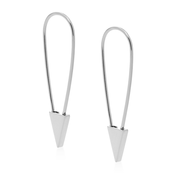 PHYLLIS & ROSIE SAFETY PIN EARRING- STERLING SILVER