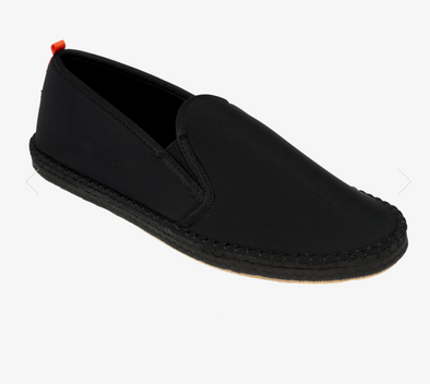 SEA STAR MENS MARINER SLIP ON - ALL BLACK