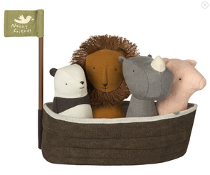 MAILEG NOAH'S ARK WITH 4 RATTLES SET