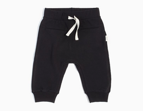 "MILES BABY ""BASIC"" JOGGER (12M-6Y)- BLACK"