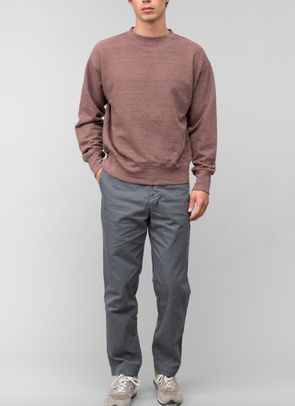 SAVE KHAKI MEN'S FRENCH TERRY RELAXED SWEATSHIRT - NUTMEG