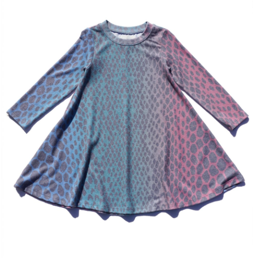 SOL ANGELES GIRL'S HACCI DRESS - RAINBOW PYTHON