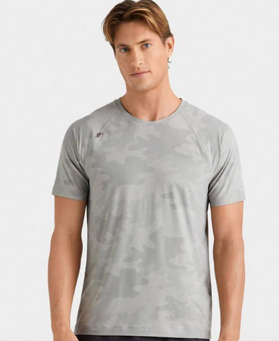RHONE REIGN SHORT SLEEVE SHIRT - GREY HEATHER CAMO