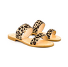 COCOBELLE LEATHER SLIDE - PONY LEOPARD