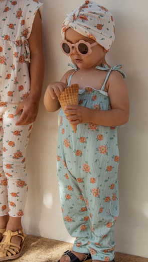 LOUISE MISHA BABY GIRLS ABHA JUMPSUIT - VINTAGE BLUE FLOWERS