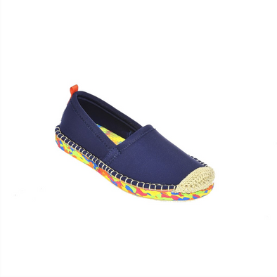 SEA STAR KIDS BEACHCOMBER ESPADRILLE - DARK NAVY MULTI SOLE