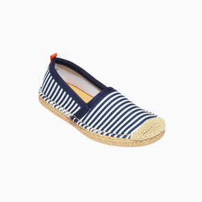 SEA STAR KIDS BEACHCOMBER ESPADRILLE - NAVY/WHITE MICROSTRIPE