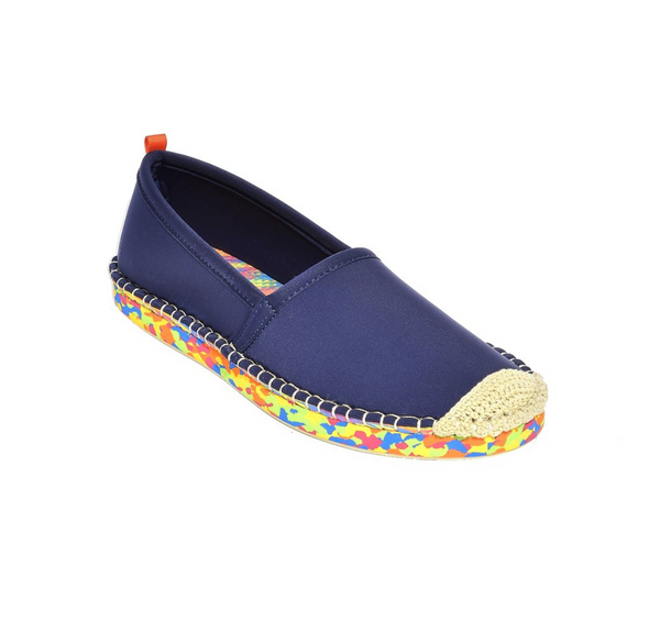 SEA STAR WOMENS BEACHCOMBER ESPADRILLE - DARK NAVY MULTI SOLE